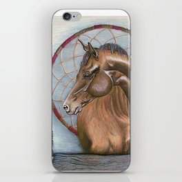 Horse With Dream Catcher iPhone Skin