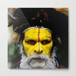 Papua New Guinea: Huli Wigman Metal Print