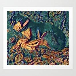 Doberman art Art Print