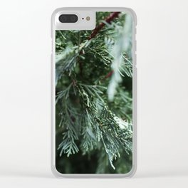Winter Pine Clear iPhone Case