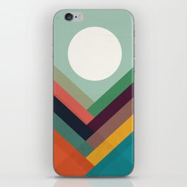 Rows of valleys iPhone Skin