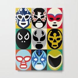 Lucha Libre 2 Metal Print