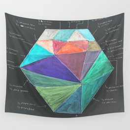 Inverted Color Study Wall Tapestry