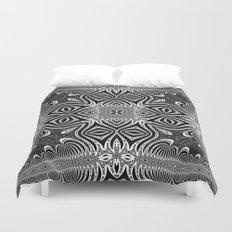 Black & White Tribal Symmetry Duvet Cover