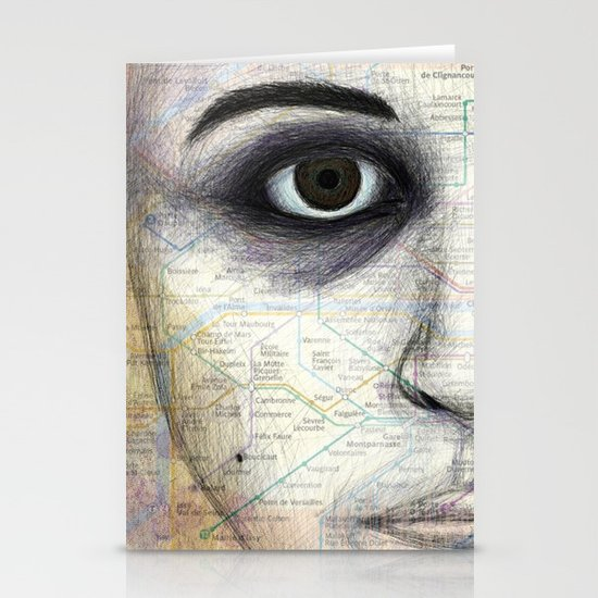 Map Portrait Stationery Cards