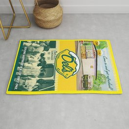 Vintage Del's Lemonade Rhode Island Advertising Poster Rug