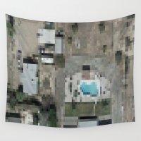 las vegas Wall Tapestries featuring Las Vegas by Mark John Grant