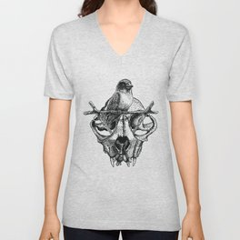Mr. Sparrow and the cat's skull Unisex V-Neck