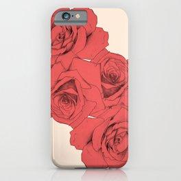 Tattoo Rose   Floral  iPhone Case