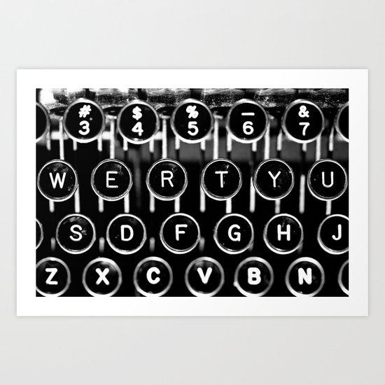 Rows of Keys Art Print