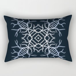Diatom Snowflake Rectangular Pillow