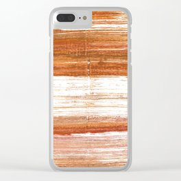 Ruddy brown Clear iPhone Case