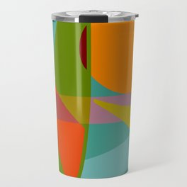 Shapes and Layers no.6 - Tropical Sunset Travel Mug