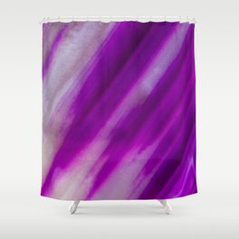 Purple Neon Geode Raw Crystal Stone Agate Amethyst Fine Art Print Shower Curtain