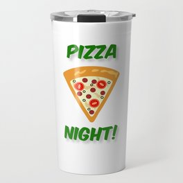 Our Pizza Night (in Green) Travel Mug