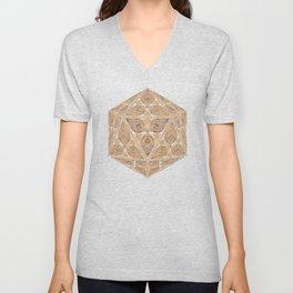 D20 Henna Icosahedron Unisex V-Neck