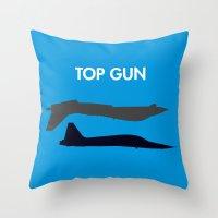 top gun Throw Pillows featuring Top Gun  by NotThatMikeMyers