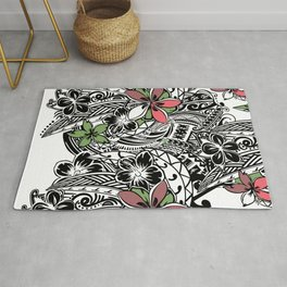 Polynesian Flora Touch Of Color Rug