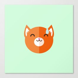 I'm Fox and I'm embarrassed Canvas Print