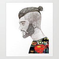 zayn malik Art Prints featuring Zayn Malik by LizzMartinez