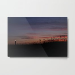 Cape Hatteras Lighthouse at Sunset Metal Print