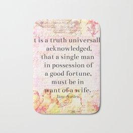 Jane Austen husband marriage quote Bath Mat