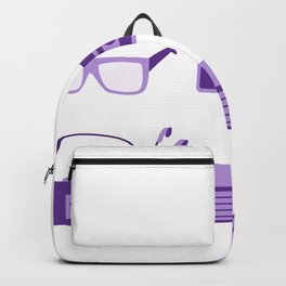 I Love the 80s in Purple - Bedroom Items - Sneakers Sunglasses Walkman Video Game Floppy Disk Icons Backpack