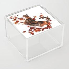 Autumn Cat Acrylic Box