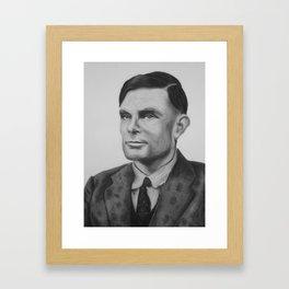 Alan Turing Pastel Framed Art Print