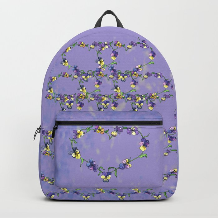 Pansy Heart Backpack
