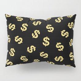 Dollar Signs Black & Gold Pillow Sham