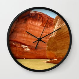 Antelope Canyon On Lake Powell Wall Clock