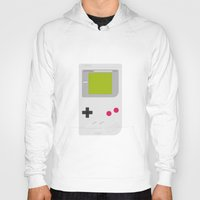 gameboy Hoodies featuring #54 Gameboy by MNML Thing