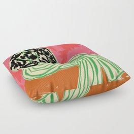 CALM WOMAN PORTRAIT Floor Pillow