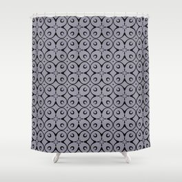 My Lucky Day Lilac Gray Shower Curtain