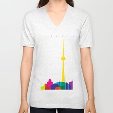 Shapes of Toronto. Accurate to scale Unisex V-Neck
