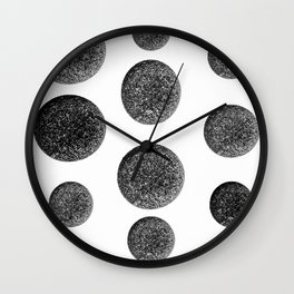 Stones  Black and White Nature Photography Wall Clock