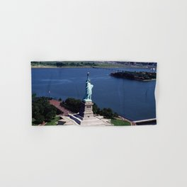 Aerial view of the Statue of Liberty Hand & Bath Towel