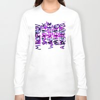letters Long Sleeve T-shirts featuring letters by Artemio Studio