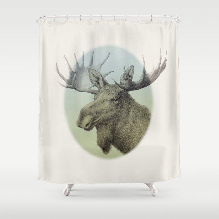 Moose Head Elk Shower Curtain