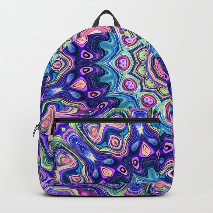 Circular Spectral Kaleidoscope Backpack