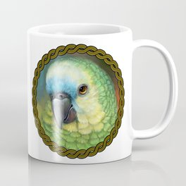Blue fronted amazon parrot realistic painting Coffee Mug