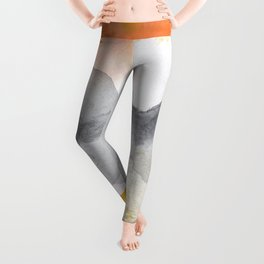 Tequila Sunrise Abstract Leggings