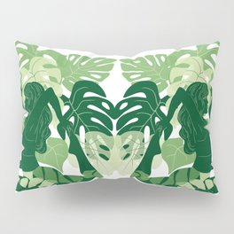 One-Legged King Pigeon Pose Pillow Sham