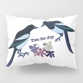 Two magpies Pillow Sham