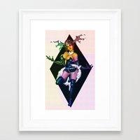 devil Framed Art Prints featuring Devil by kumo izuru