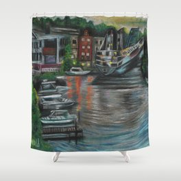 Manistee at Night Shower Curtain