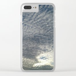 London Eye, Cloudy Sky Clear iPhone Case