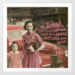 we travel Art Print