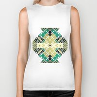 snake Biker Tanks featuring Snake by SensualPatterns